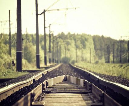 The train tracks.