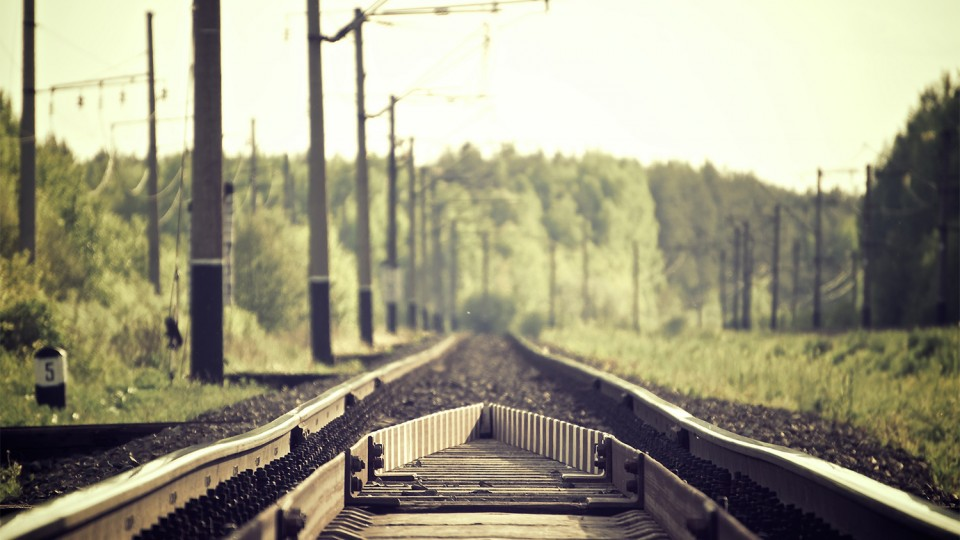 The train tracks.