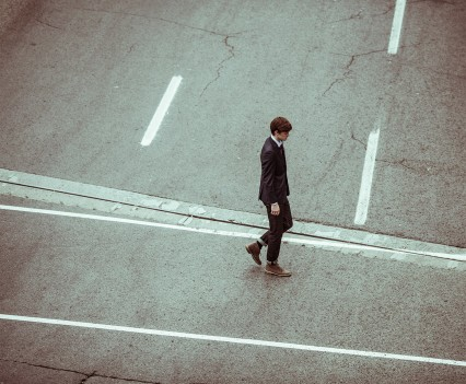 A person walking.