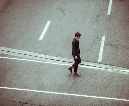 A person walking.